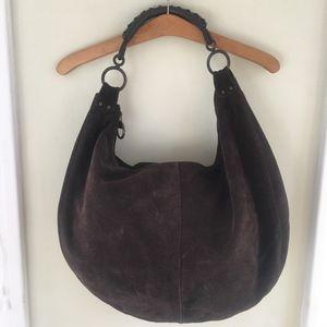 Vintage brown, suede, Gap Hobo bag.